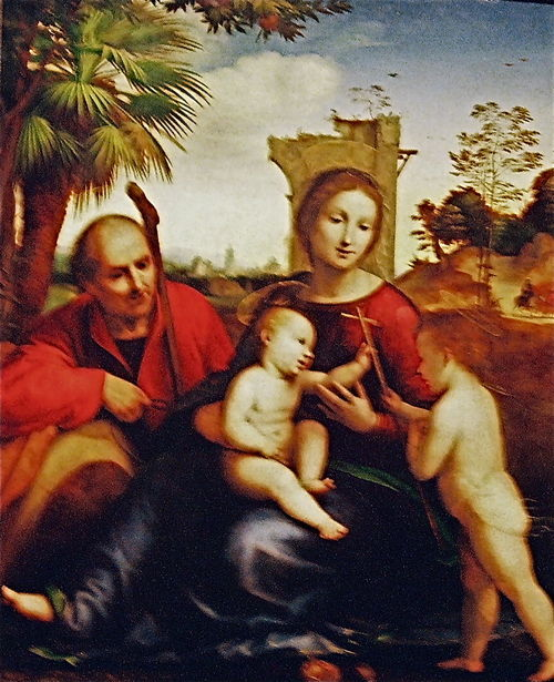 Flight to Egypt w: John Bapt Fra Bartolomeo